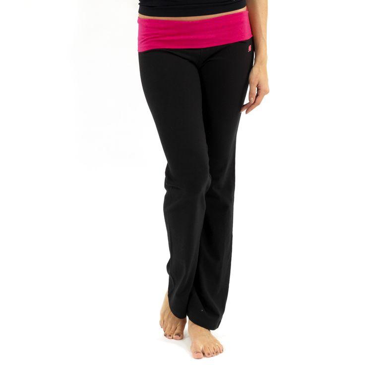 New Balance Fold Over Lounge Pants – Black/Bright Rose