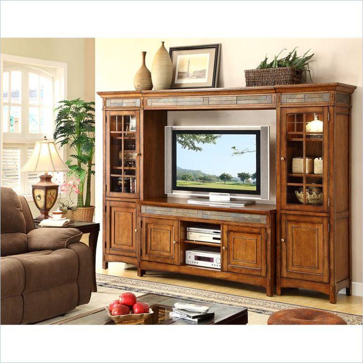 Riverside Furniture Craftsman Home TV Entertainment Center in Americana Oak    2941 3 8. 28 best images about Cabinet ideas on Pinterest   Tv entertainment