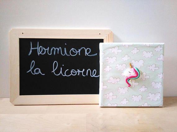 Tableau Hermione la Licorne Décoration murale Tableau animal