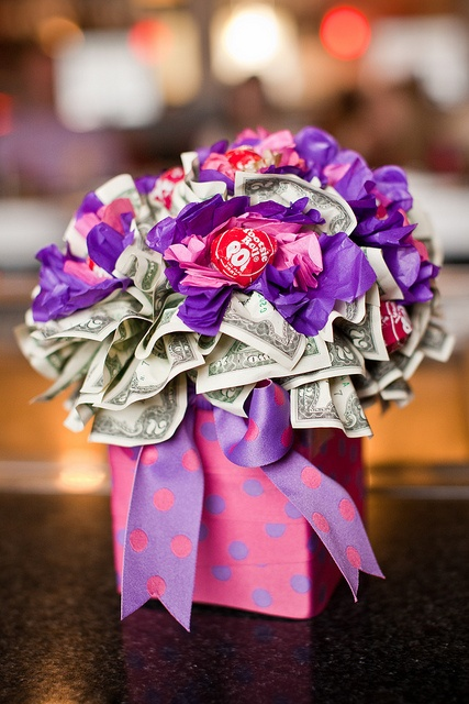 $weet 16: Sweet 16 birthday bouquet made with Tootsie Pops and filled with what teenagers want...