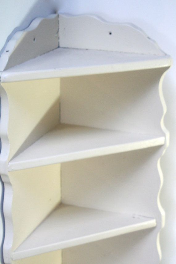 corner bookshelf white wood 3