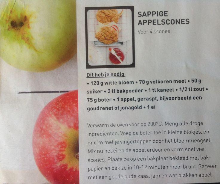 Sappige appelscones