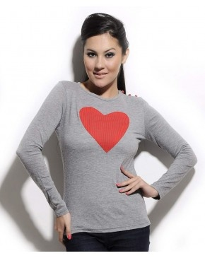 Grey Love T-Shirt by Corsage