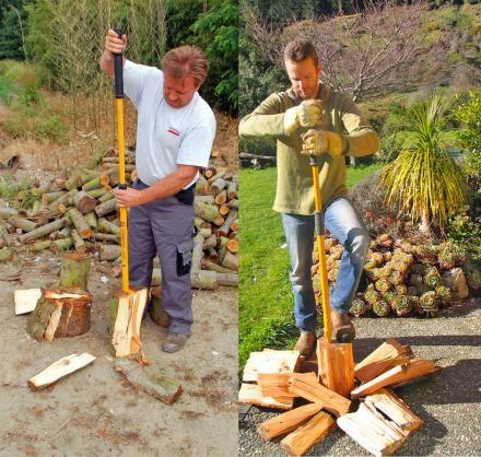 Logmatic Wedge Axe Uses a Slide Hammer To Easily Split Wood