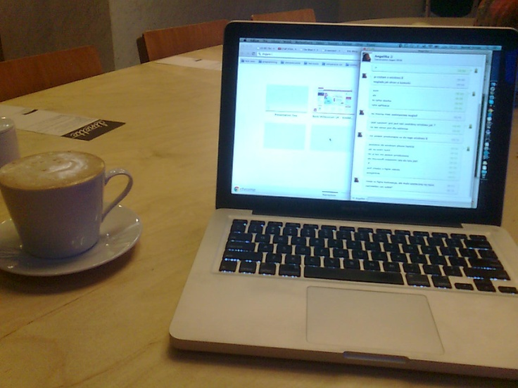 morning work in dinette, Skytower, Wrocław