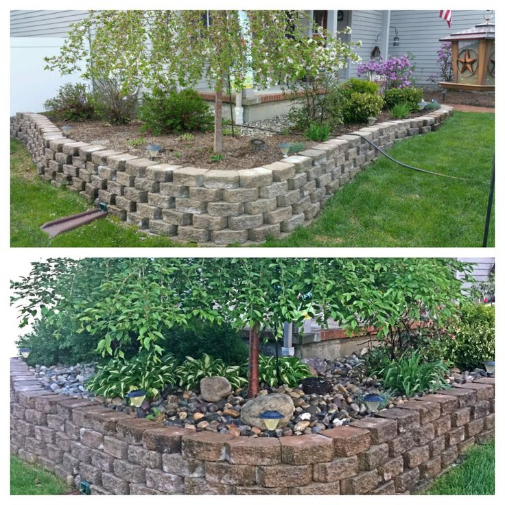 Landscaping Rock Vs Mulch : Best images about before after house transformation on