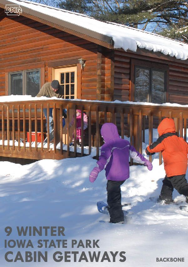 17 best images about iowa cabins on pinterest hiking for Best weekend getaways in winter