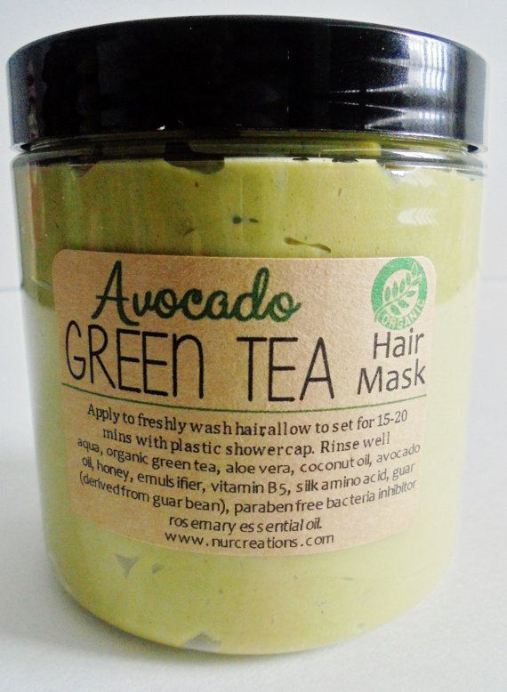 Organic Green Tea Avocado Hair Mask-Revitalizing *Rich Antioxidant Deep Repair 8oz.
