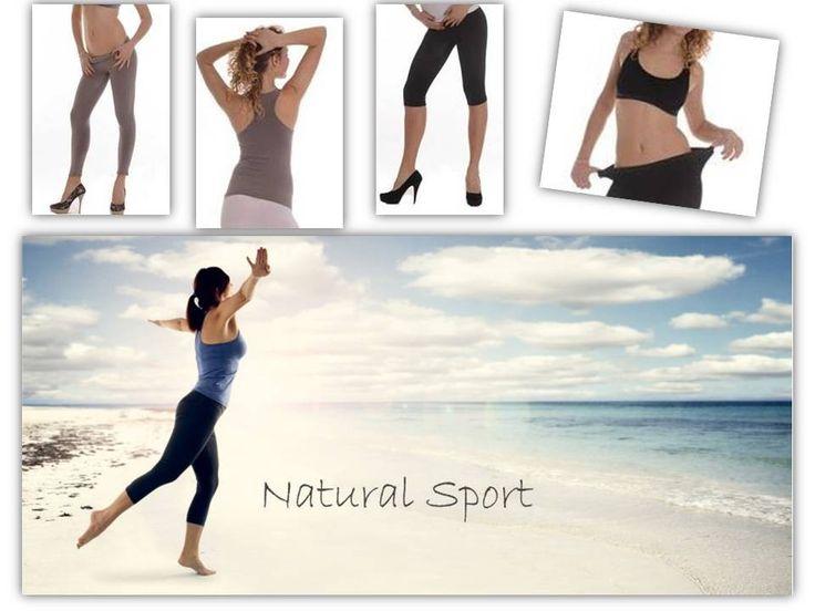 #Abbigliamento #fitness #donna in tessuto naturale