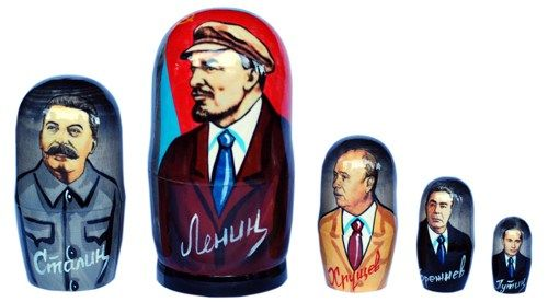 Matryoshka nesting doll Lenin 5 pc | ArtMatryoshka - Toys & Hobbies on ArtFire