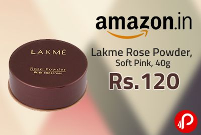 #Amazon #LightningDeal is offering #LakmeRosePowder, Soft Pink, 40g at Rs. 120. #Lakme Rose Powder Foundation make-up in a powder format gives a flawless radiant look. http://www.paisebachaoindia.com/lakme-rose-powder-soft-pink-40g-at-rs-120-lightning-deal-amazon/
