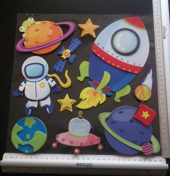 große+XXL+3D-Sticker+für+die+Schultüte+-+Astronaut+von+bastel-reni+auf+DaWanda.com