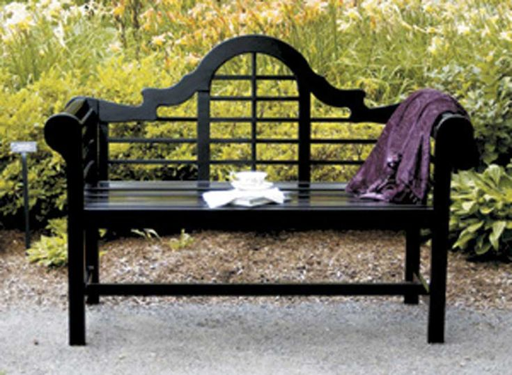 Black Eucalyptus Bench Features Classic Style With A Contemporary Edge That  Will Complement Any Garden Setting.