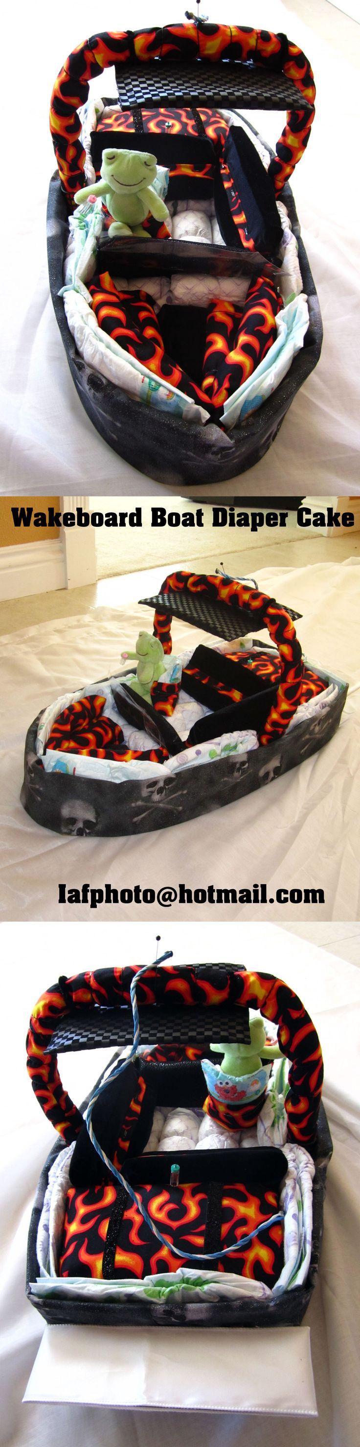 Wakeboard Boat Diaper Cake