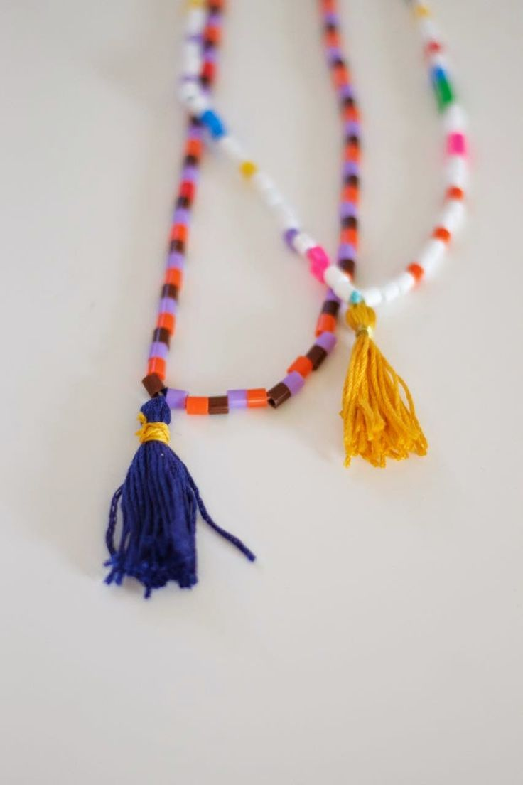 BKids DIY beaded tassel necklace | Wimke