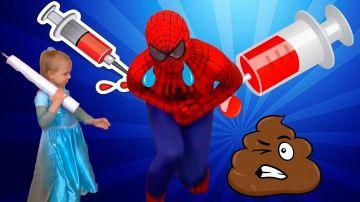 Человек паук КАКАЕТ и ПУКАЕТ Эльза делает БОЛЬШОЙ УКОЛ в попу /w КАКАШКА и Спайдермен Spider-Men http://video-kid.com/20470-chelovek-pauk-kakaet-i-pukaet-elza-delaet-bolshoi-ukol-v-popu-w-kakashka-i-spaidermen-spider-m.html  Человек паук КАКАЕТ и ПУКАЕТ Эльза делает БОЛЬШОЙ УКОЛ в попу /w КАКАШКА и Спайдермен Spider-Men супергерои в реальной жизни. Приключения Человека паука и Замороженной Эльзы  Frozen. Злой Зеленый человек подлил в Пепси Колу волшебное зелье и Спайдермен начал какать и…