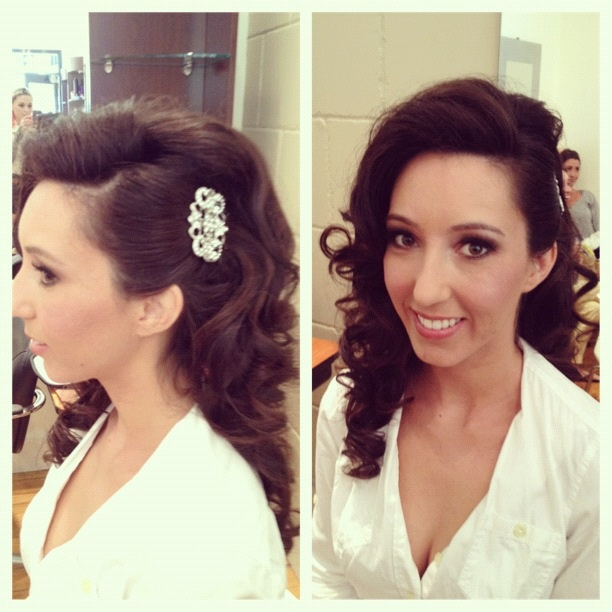 Brides hair make by Amy Gonyea