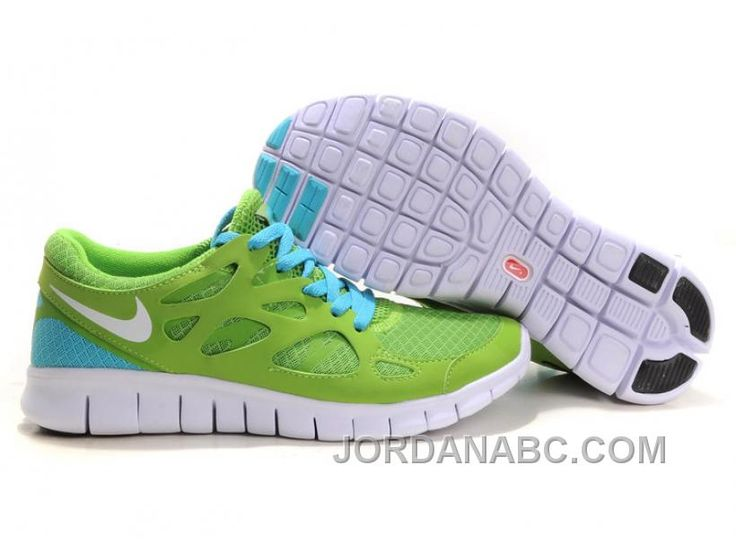 Nike Free Run 2 Running Shoes Men Light Green Blue White
