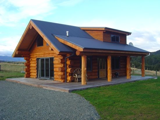 Pin by Santuccio Album on New Zealand homes in 2019  Log homes Log cabin homes Building a house