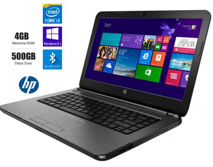 Laptop Notebook HP 14-r215la ************************************************************************ - Procesador: Intel® Core™ i3-4005U a 1,7 GHz - Memoria: SDRAM DDR3L de 4 GB (1 DIMM)  - Gráficos de video: Intel HD Graphics 4400 con memoria total de gráficos de hasta 1792 MB - Pantalla: Pantalla con retroiluminación WLED de alta definición BrightView de 14 pulgadas en diagonal (1366 x 768) - Disco duro: 500 GB (5400 RPM) S/. 800.00…