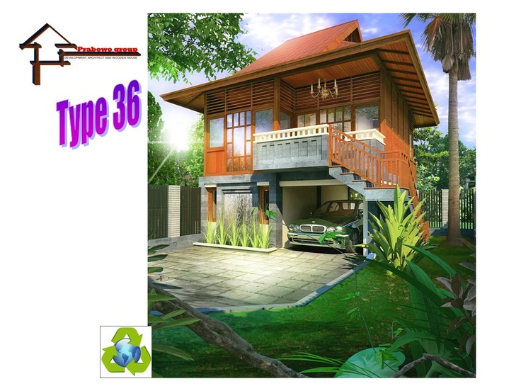 Rumah Kayu Modern Mix Type 36 Panggung Indonesia Wooden House
