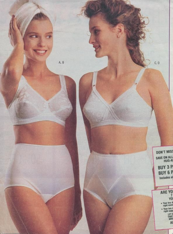 This is a 1980's Sears ad with 2 pretty models. The girl with the ...