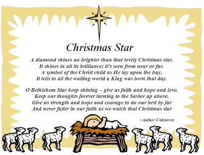 christmas poems about stars | Christmas Star