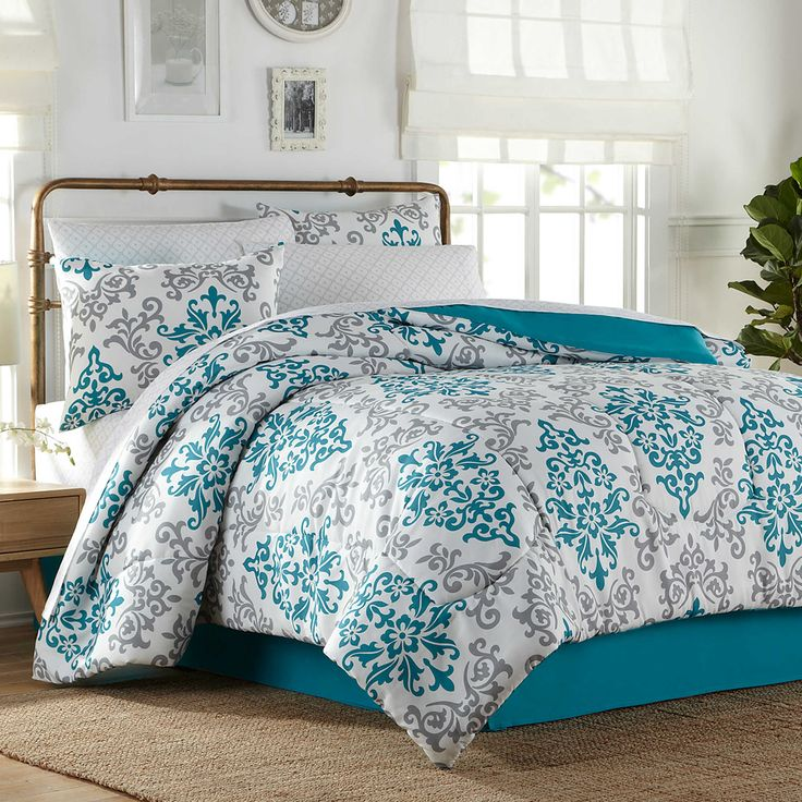 Carina 8-Piece Full Comforter Set In Turquoise