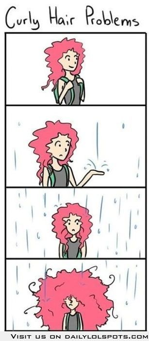Curly Hair Problems: this is so me when it rains! LOL