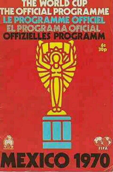 1970 World Cup Finals programme cover.