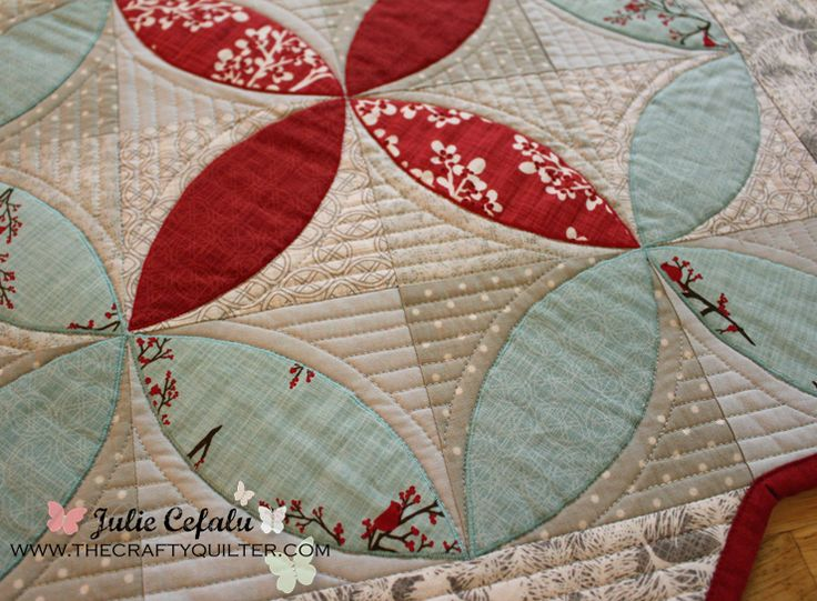 The Crafty Quilter   Christmas Once a Month: Winter Seeds Table Topper   http://thecraftyquilter.com