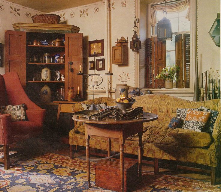 American Colonial Interiors: 17 Best Images About Country Wall Stenciling On Pinterest