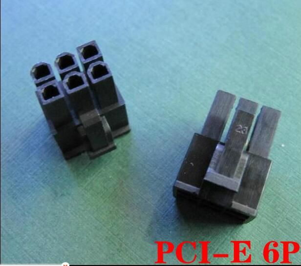 4.2mm black 6P male for PC/computer graphics card PCI-E Power connector plastic shell