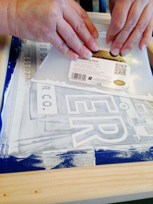 Silk screening with Silhouette - this looks hard but could be a fun weekend project