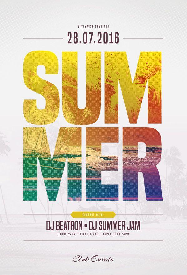 Summer Flyer Template by styleWish on DeviantArt