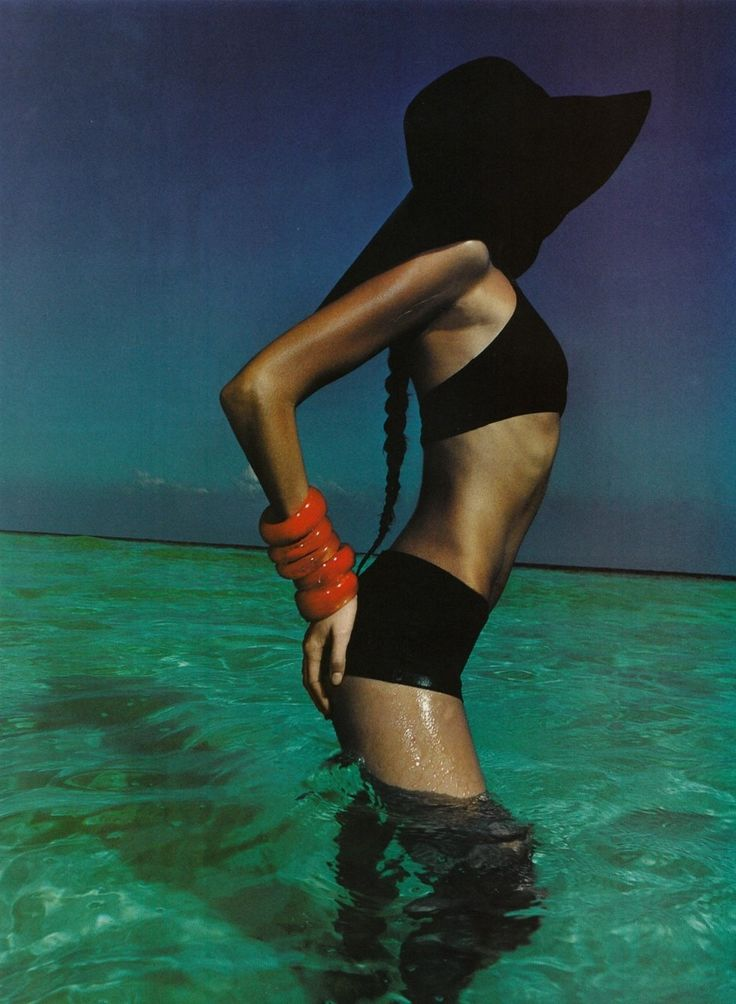 Vogue Paris, circa late 1990's Photographer: Enrique Badulescu Model: Rie Rasmussen