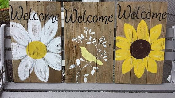 Check out this item in my Etsy shop https://www.etsy.com/listing/231324793/rustic-welcome-signs-on-reclaimed-wood