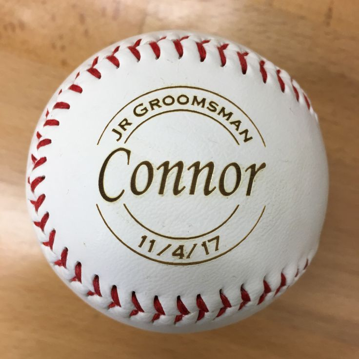 Ring Bearer Gift Personalized Laser Engraved Baseball Security RingBearer Jr Groomsmen Wedding Favor Junior Groomsman