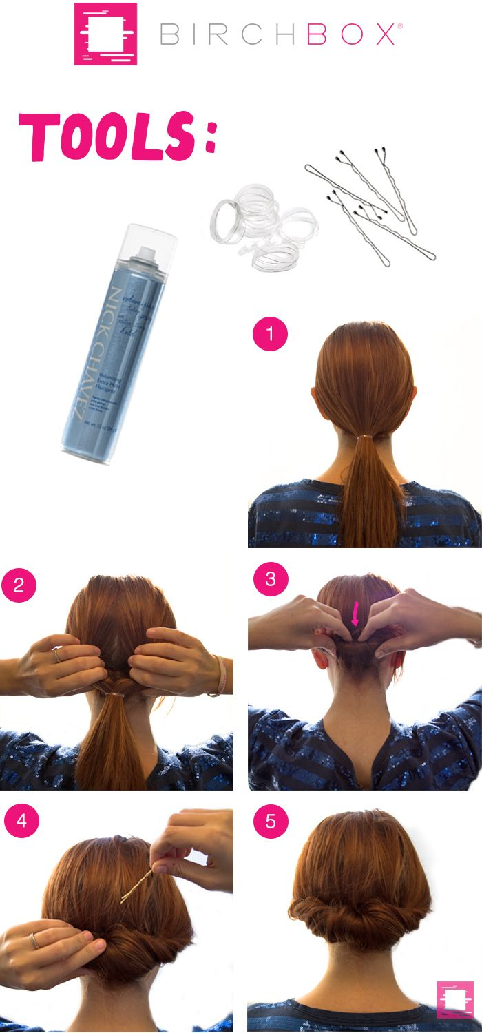 How to Get a Tuck and Roll Chignon Hairstyle