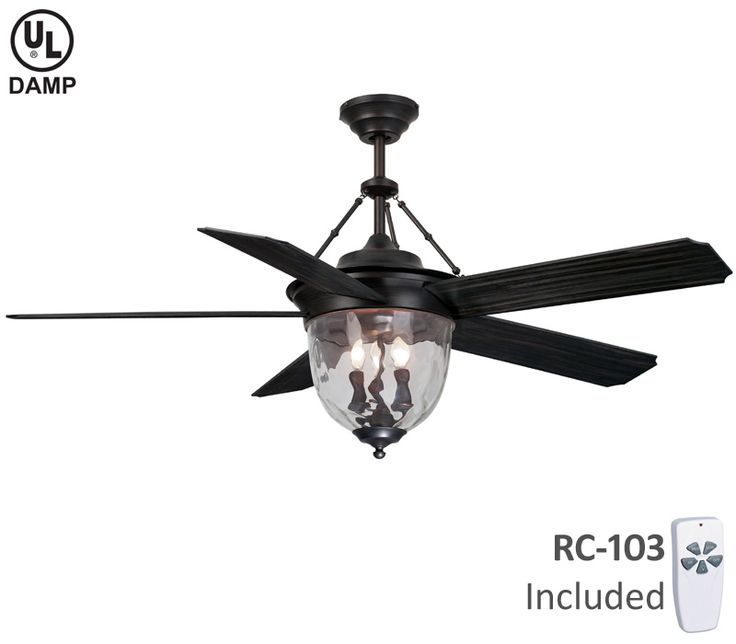 Ellington Fans 3 Light Knightsbridge Ceiling Fan, Aged Bronze ABS 1 Of 1