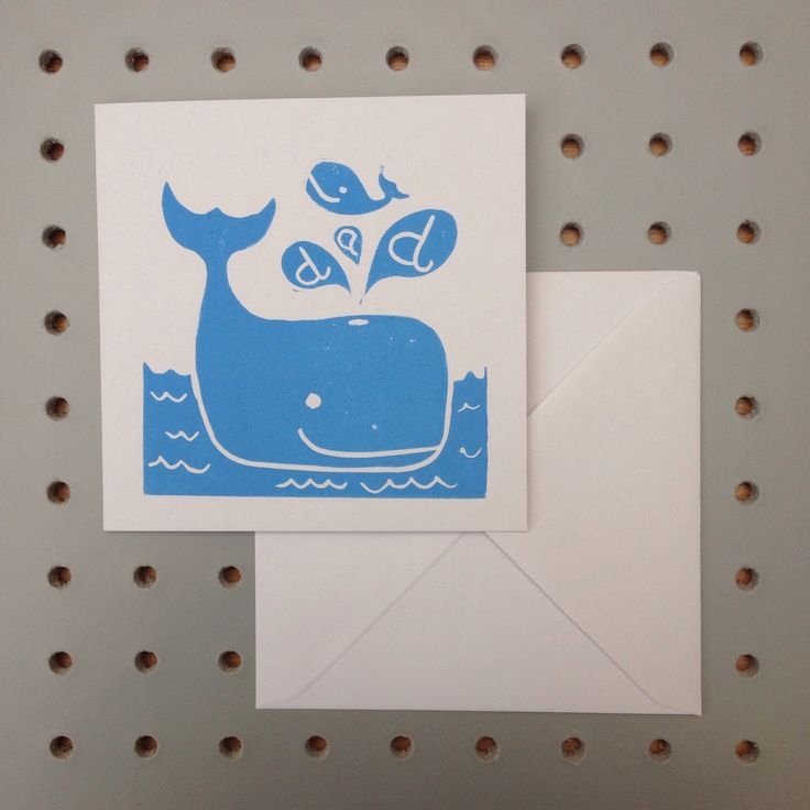 A personal favourite from my Etsy shop https://www.etsy.com/uk/listing/273951898/fathers-day-ocean-blue-whale-handprinted