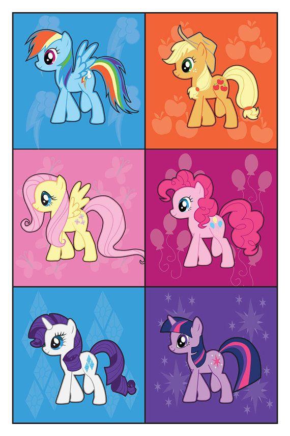 My little pony Rainbow Dash, Applejack, Fluttershy, Pinkie pie, Rarity and Twilight Sparkle AWESOME !!!!!!!
