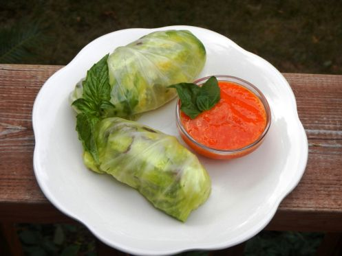 Salad rolls, Sauces and Cabbages on Pinterest