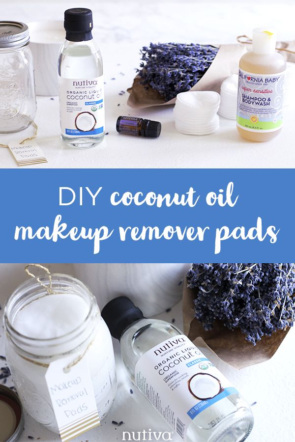 Diy makeup remover pads coconut oil