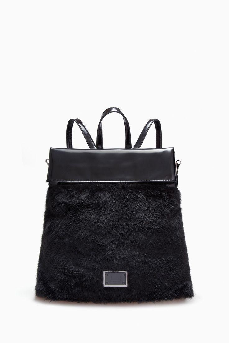 Metamorphosis Faux Fur Backpack - Urban Rebels | Adolfo Dominguez shop online