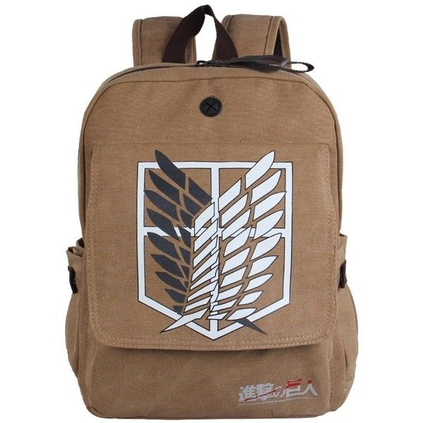 Amazon.com: Oryer's Fashion New Attack on Titan Cartoon Flannel... ($36) ❤ liked on Polyvore featuring bags, backpacks, accessories, day pack backpack, comic book, backpack bags, cartoon bag and brown bag