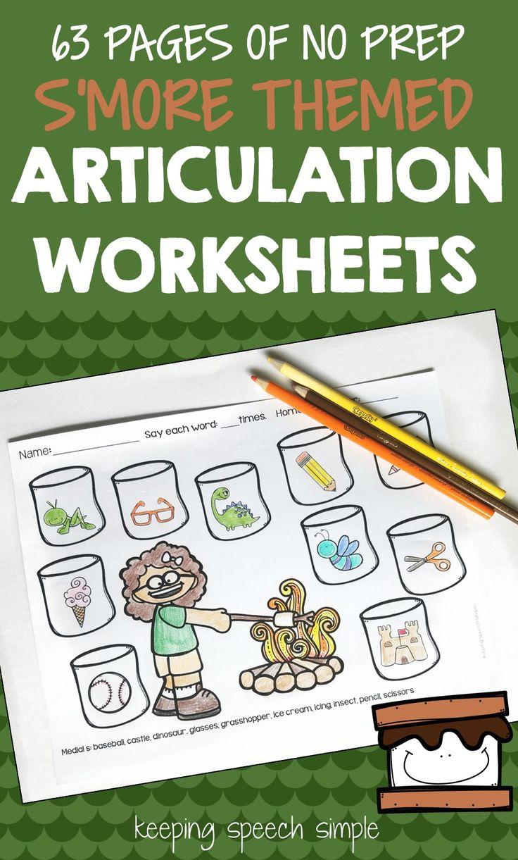 S blend coloring pages - S More Speech No Prep Articulation Worksheets