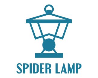 spider lamp  Logo design - a lamp made from a spider. Related keywords: insect…
