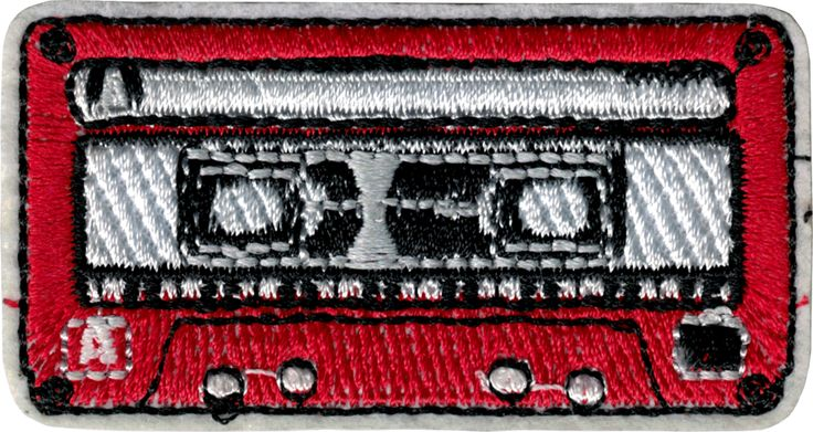 "EVERYTHING ELSE - Funny, Humor, Slogans, Weird Stuff & Misc. Random Goodness! Red, White and Black Cassette Tape Patch (2.5"" x 1.375"") - $2.49 - 1-PTR-20299"