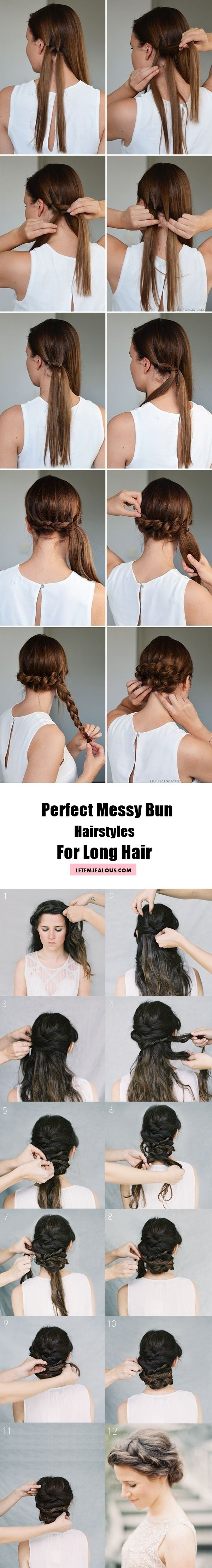 30 Perfect Messy Bun Hairstyles for Long Hair (With Tutorial)